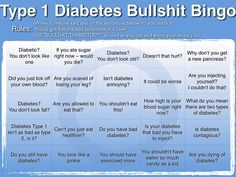 Type 1 diabetes BS Bingo.