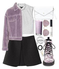 """""""ultra violet"""" by gemmonkey ❤ liked on Polyvore featuring Monki, 3.1 Phillip Lim, Ray-Ban, T.U.K., NLY Accessories, NARS Cosmetics and Urbanears"""