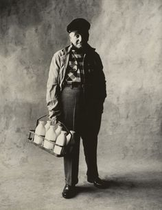 Milkman with his tools. Photo by Irving Penn