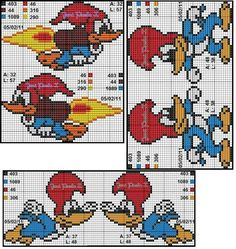 Diy And Crafts, Crafts For Kids, Woody Woodpecker, Disney Cross Stitch Patterns, Cartoon Movies, Plastic Canvas Patterns, Looney Tunes, Hama Beads, Kids Rugs