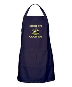 Navy 'Hook 'Em and Cook 'Em' Apron #zulily #zulilyfinds