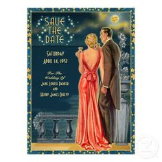 Vintage 1930s Wedding Save The Date | Blonde Personalized Announcements