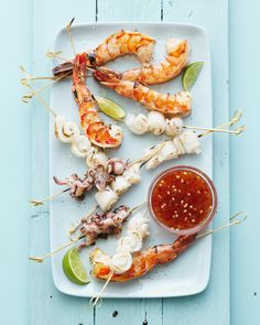grilled seafood + Sweet-Chili sauce