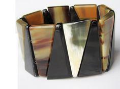 Beaded bracelet  adjustable fashion black link by Fineoxjewelry, $17.80