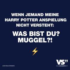 Visual Statements®️ Wenn jemand meine Harry Potter Anspielung nicht versteht: Was bist du? Muggel?!Sprüche / Zitate / Quotes / Spaß / lustig / witzig / Fun