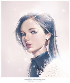 ~glossy beauty illustration by (on deviantart) Character Illustration, Digital Illustration, Character Inspiration, Character Art, Girl Pose, Drawn Art, Poster S, Cg Art, Fantasy Girl