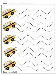 Pre writing sheets for kids - Preschool Writing, Kindergarten Math Worksheets, Preschool Learning Activities, Tracing Worksheets, Writing Activities, Pre Writing, Writing Lessons, Special Needs Teaching, Transportation Activities