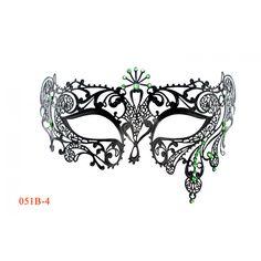 Elegant Black Venetian Laser Cut Masquerade Mask BB006BK Mardi Gras Prom