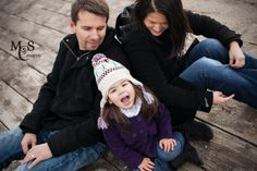 winter family photo session