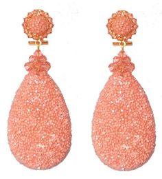 Oorbellen - Earrings - Dublos - www.pearlsandbuttons.nl Peach, Coral, Drop Earrings, Jewelry, Fashion, Moda, Jewels, Fashion Styles, Schmuck