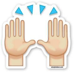 Person Raising Both Hands in Celebration | Emoji Stickers