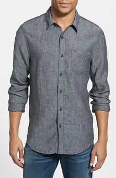 How do I feel about linen??? Nordstrom 1901 collection: Linen Shirt the 1901 collection is pretty good.  Maybe a bit summery though but also that's what's the trend.  More work to be done in the fall when those fashions are in.
