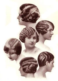 """Bobbed Hair--A fashion statement that was considered extremely bold and as a sign of liberation of women in the 1920s. It was not considered a respectable style for women until the mid-1920s and even then conservatives did not consider women with """"the bob"""" as beautiful."""