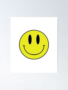 """ACID MAN SMILEY FACE EMOJI  90's Rave 80's Acid House Grunge "" Poster by StickyBandit420 