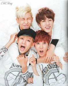 The way his arms wrap around all 3 of them... agh~ SO MUCH LOVE <3 @BTS_twt #HAPPY랩몬DAY #HappyRMDay