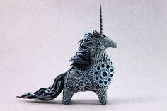 Cyberpunk unicorn by hontor.deviantart.com on @DeviantArt