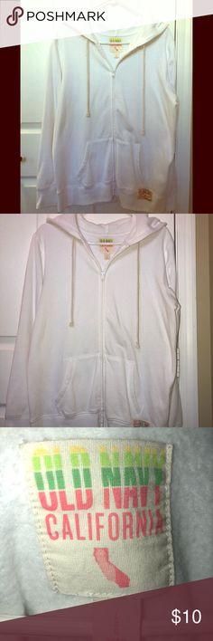 White hooded sweatshirt White hooded sweatshirt. Old Navy Old Navy Tops Sweatshirts & Hoodies