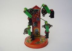Vintage Bears Carousel Tin Toy Working by oppning on Etsy