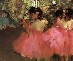Ballerina Dancers in Pink by Degas