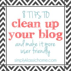 Yellow Bliss Road: How to Clean Up Your Blog and Make it More User Friendly