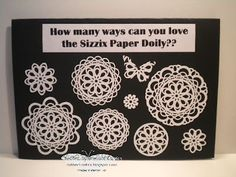 So many ways to love the Paper Doily..  Try masked stamps too!