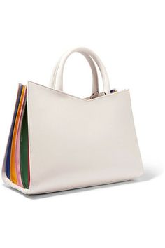 Sara Battaglia | Plisse leather tote | NET-A-PORTER.COM