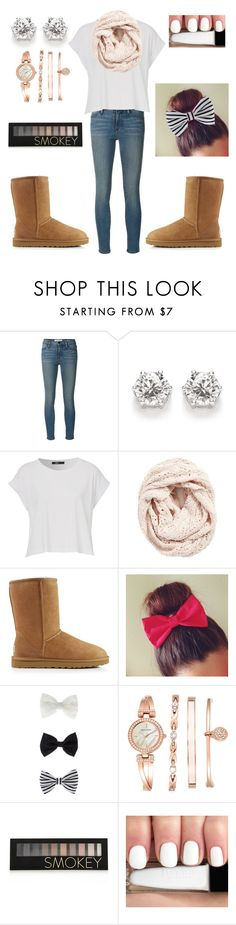 """Untitled #68"" by emily48506 ❤ liked on Polyvore featuring Frame Denim, Lemon, UGG Australia, Accessorize, Anne Klein and Forever 21"