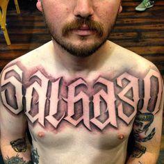 By Kalmone #InkedMagazine #Letteringtattoo #tattoos #tattoo #font #lettering
