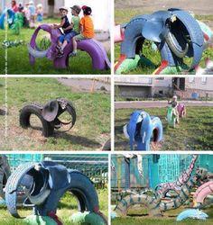 Reciclaje-creativo-llantas