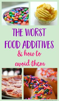 Healthy Living Tips The worst food additives, according to the EWG's Dirty Dozen list. What types of foods you'll find them in, how to avoid them and some better alternatives. Healthy Food List, Healthy Eating, Healthy Recipes, Healthy Kids, Healthy Juices, Healthy Fruits, Stop Eating, Clean Eating, Toxic Foods