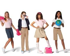 Not everyone has to have money to look cool. Rock these school uniform trends for less money! ......JUST THE HELP :D