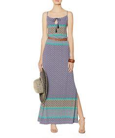 Love this Blue Arabesque Tassel Maxi Dress on #zulily! #zulilyfinds