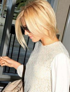 Best Bob haircuts for fine hair. Loving this look