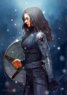 Gender swap Bucky (Captain America Winter Soldier) i think this cosplay is going to be mine! Winter Soldier Cosplay, Winter Soldier Bucky, Sebastian Stan, Avengers, The Wicked The Divine, Sherlock, Geeks, Gender Swap, Peggy Carter