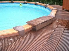 Slide background intex pool with the aquapool swimming pool forum theme show wood steel wall. Oberirdische Pools, Cool Pools, Above Ground Pool, In Ground Pools, Cozy Backyard, Backyard Ideas, Swimming Pool Decks, Intex Pool, Diy Pool