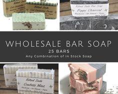 Wholesale Bar Soap, 25 bars, bulk bar soap, wholesale soap, wholesale vegan soap, wholesale natural soap, Vegan Bar Soap, bulk soap - pinned by pin4etsy.com