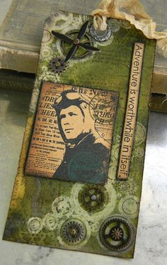 Stamptramp: Artistic Outpost by Shelly Hickox Card Tags, Gift Tags, Aviation Theme, 3d Craft, Scrapbook Cards, Scrapbooking, Paper Tags, Artist Trading Cards, Vintage Tags
