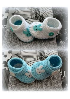crochet baby shoes booties