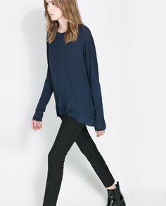 Image 2 of VISCOSE BOAT NECK T-SHIRT from Zara