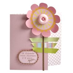 Find out how to make this beautiful flowery card with Craft Asylum papers, embellishments and stamps set.