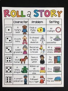Roll a Story - Writing Center by My Teaching Pal Homeschool Kindergarten, Kindergarten Writing, English Activities, Reading Activities, Roll A Story, Creative Writing For Kids, Reading Projects, Speech And Language, Reading Comprehension