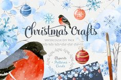 Christmas Crafts.Watercolor DIY Pack by NataliVA on Creative Market