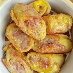 Egg Recipes, Pork Recipes, Snack Recipes, Cooking Recipes, Recipies, Snacks, Pancake Bites, Indonesian Food, Indonesian Recipes