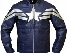 Captain America Leather Jacket, Original Leather, All size are available