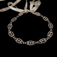 "Very ""expensive""! EUGENIA Antique crystal chain finished with by OliviaHeadpieces, $151.00"