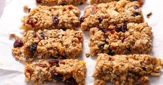 3 tipos de barras de cereal caseras, rápido y saludable
