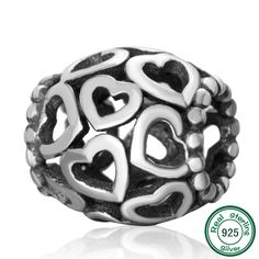 97d9dcaa6 Pro Jewelry 925 Solid Sterling Silver Nana Heart Charm Bead *** Wonderful to  have you for seeing our photograph. (This is…   Charms and Charm Bracelets  ...