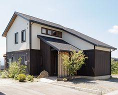 Japanese Modern House, Japanese Home Design, Japanese Architecture, Architecture Design, Home Interior Design, Exterior Design, Modern Front Yard, Metal Cladding, Pretty Room