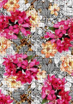 HAND DRAWN Flower Design Digital Print 1