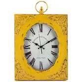 Ochre Ornamental Metal & Glass Wall Clock